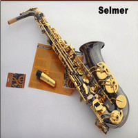 Wholesale Alto Saxophone Black - FREE SHipping France Selmer   54 E flat Alto Saxophone professional sax black nickel gold mouthpiece Top Musical Instruments