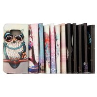Wholesale Owl Phone Covers - Owl Dreamcatcher Wallet Leather Pouch Case For Samsung GALAXY S8 PLUS 2017 A3 A5 A320 A520 Huawei P10 Flower Elephant Stand Card Phone Cover