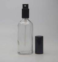 Wholesale Glass Etching Wholesale - 100ml Portable Refillable Perfume Bottles Atomizer Colorful Spray Glass Bottles Empty Perfume Bottles Fashion Perfume Bottles