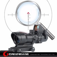 Wholesale Field View - Greenbase ACOG Style Wide field of View GB 01NSN 4X32 Scope With RM Red Dot Black Dark Earth