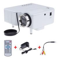 Wholesale Multimedia Player Hdmi Input - Wholesale-UC28 Mini LED Digital Video Game Projectors Multimedia player Inputs AV VGA USB SD HDMI proyector Built-in Speaker data show Hot