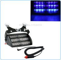 Wholesale Suction Cup Car Lights - 3LED *6 18 LED Strobe Lights Car Fireman Emergency Flash Warn with Suction Cups Blue 3x6 18LED 3 LED 3 Flashing Modes
