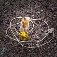 diy driftflaschen großhandel-Verkauf 12 Farbe Drift Flasche Halskette DIY Zeit Edelstein Blume Serie Glas Anhänger Halskette fünf - Spitz Stern