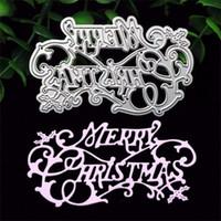 Wholesale Big Dies - Merry Christmas Metal Die Cutting Dies Scrapbooking Embossing Folder Suit for Sizzix Fustella Big Shot Cutting Machine