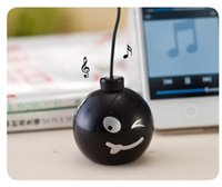 Wholesale Speaker Bombs - Wholesale- Fashion Audio Dock 3.5mm Jack Portable Stereo Mini Speaker Bomb With Various expressions for iPhone Cell Mobile Phone MP3 MP4