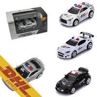Wholesale Led Lights Police Cars Wholesale - 40pcs lot Mini Fire Pot RC Racing Car Police Cars LED Light Music Roadblock 4CH Radio Remote Control Vehicle Toys for Kids