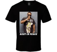Wholesale Atlanta T Shirts - Tops Tees Printed Men T Shirt Shawty Lo Rest In Peace Atlanta Rapper Hip Hop Music T shirt T-Shirt Short Sleeve Top