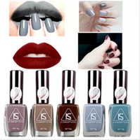 Wholesale matte nail polish - Matte Nail Gel Polish Fashion Grey Color Colors ml Manicure Beauty Tools Vernis A Ongle Varnish Nail polish