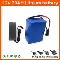 Wholesale Battery 12v 3a - 12V 20Ah 18650 3S Lithium Battery Pack 12.6V 20000mah Capacity for street light   CCTV Camera   LED Power + 12.6V 3A charger with 20A BMS