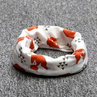 Wholesale Scarfs Children - Wholesale- Cartoon Cotton Wraps Baby Scarf Tiger Panda Tent Print Kid Scarves Winter Children Collars Boys Girls Animal O Ring Neckerchief