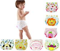 Wholesale Girls Boxer Pants - Toddler Boys Girls Potty Cartoon Training Pants Baby Waterproof Trainer potty underwear Infant pants
