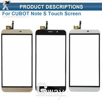 Atacado- CUBOT Note S Touch Screen Digitizer + Ferramentas Novo 1280X720 HD 5.5inch Digitizer Assembly Substituição Para CUBOT Note S Mobile Phone