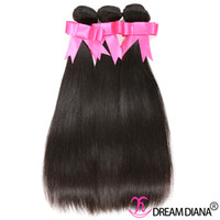Wholesale Cheap Quality Malaysian Hair - Cheap Brazilian Human Hair Bundles Straight Hair Weaves 3Pcs  Lot Wet And Wavy Human Hair Dyeable 7A Great Quality