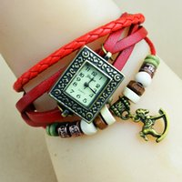 Wholesale Trojan Watches - Fashion Women Watch Female Quartz Leather Weave Trojans Bracelet Watches Elegant Ladies Clock relogio Feminino saat