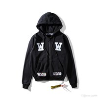 Wholesale White Hooded Cardigan Sweater - Free shipping New high-end wholesale embroidery rose cross tide brand men and women hooded cardigan sweater coat