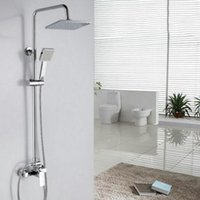 Wholesale Cold Heading Stainless Steel - Stainless steel American Style UPC Shower Faucet with Zinc Diecast 8 inch Shower Head + Hand Shower Cold and Hot Cater