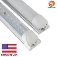 Wholesale Led Tube Lights Base - ( tube+base ) integrated LED tube light lamp T8 2400mm 2.4M 8 FT 72W 7800LM SMD 2835 384led LED light tube t8 Stock USA