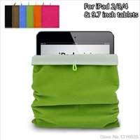 Wholesale Ebook Sleeve Bag - Hot sale Colorful 7 color 9.7inch Sleeve Pouch Bag For iPad 2 3 4 Tablet eBook Reader Protective Cotton Pocket for ipad air