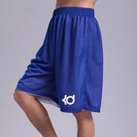 Wholesale Running Loose - Wholesale-Brand KD Bermudas Basketballs Shorts Homme Men's Summer Sporting Double-sided Mesh Knee Length Drawstring Runs Plus Size Shorts