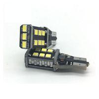 Wholesale Car Xenon Auto Lamp - w16w no error led bulb T15 921 car reverse light backup parking lamp no error auto canbus 15 SMD 2835 12V 750lm xenon white