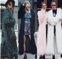 Wholesale Knit Mink Coats - 2017 Winter new Women Imitation Mink Fur Coats Fashion Slim thick warm Faux Fur Outerwear Plus Size 5XL female long Coats