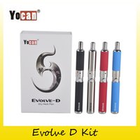 Wholesale Ego Dual Starter Kits - Authentic Yocan Evolve-D Starter Kit dry herb pen Vaporizer with Pancake Dual Coils 650mAh Battery ego thread atomizer 100% genuine 2204022