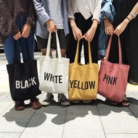 Wholesale 2017 new Shoulder Bags simple letter printing high capacity canvas bag all match small fresh fashion shoulder bags