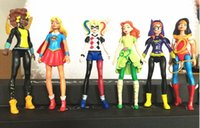 Wholesale Poison Ivy - 6pcs DC Super Hero Girls Batgirl Poison Ivy Bumble Bee Harley Quinn Action figure Doll Toy 15CM