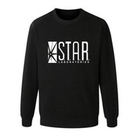 Wholesale Lab Pink - Wholesale- Flash Barry Allen Star Lab Labs Black Color Mens Sweatshirt Men Novelty hoodies Pullover 2016 Male Clothes Arrow Friend