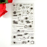 Wholesale Scrapbooking Card Making Supplies - Wholesale- Coolhoo 1pc TPR silicon clear Stamp small signs DIY Scrapbooking Card Making  Decoration Supplies