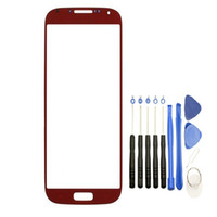 Wholesale Replacement Screen For S4 - 100PCS Front Outer Touch Screen Glass Lens Replacement for Samsung Galaxy s4 i9505 i337 i9500 with Tools