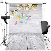 5x7ft Happy Easter Vinyl Photography Background para crianças Piso de madeira Oxford Backdrop para estúdio de fotos Props 211