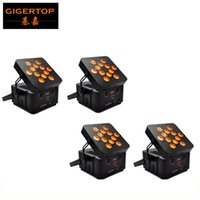 Discount american dj par led - 4pcs lot 12*15W 5IN1 Battery Wireless Led Par Light 5 9CH 100V- 240V American DJ Light 185W Led Par Light Multi Angle Adjustable