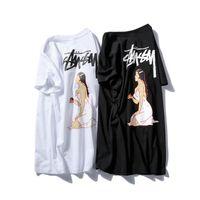 Wholesale Doodle Top - Hot Lovers Couples Unisex Sty Doodle Tour Map Sexy Women RIPNDIP Dress Cat Short Sleeve T-Shirt Tees Tops Bird Co-brand