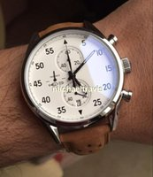 Wholesale Space Glasses - NEW ARRIVAL TG Carrea Calibre 1887 Space Chrono Flyback Stopwatch Black watches For Men Sapphire glass white face free shipping