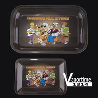 Metal Tobacco Rolling Tray M 27.5 * 17.5 * 2.3 cm S 18 * 12.5 * 1.3 cm Handroller Rolling Banys Cigarette Case Storage Storage 003
