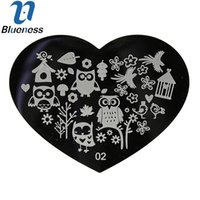 Wholesale Nail Stamping Plates Animals - Wholesale- 1Pcs Manicure Owl Bird Flower Stencils For Nail Art Stamping Template Animal Design Stamp Image Plate Nail Art Decoration