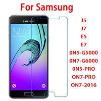 gehärtetes glas für samsung galaxy on7 groihandel-2,5D 0,26 mm Hartglas Displayschutzfolie für Samsung Galaxy J5 J7 E5 E7 0N5-G5000 0N7-G6000 0N5-PRO ON7-PRO ON7-2016 ON8