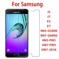 Wholesale E5 Phones - 2.5D 0.26mm tempered glass phone screen protector film for Samsung galaxy J5 J7 E5 E7 0N5-G5000 0N7-G6000 0N5-PRO ON7-PRO ON7-2016 ON8