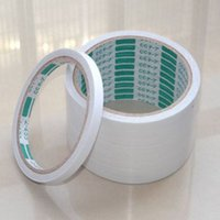 Atacado- New White 8mm 5 Rolls / 1Pack de Double Sided Super Strong Adhesive Tape
