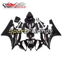 Wholesale Plastic R6 - Injection Fairings For Yamaha YZF600 R6 Year 06 07 2006 2007 ABS Plastics Motorcycle Fairing Kit Bodywork Cowling Flat Black with Red Logos