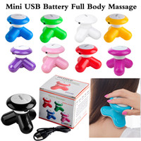 Wholesale Via Health - Head Massager Mini Electric Handled Wave Vibrating Massager USB Battery Full Body Use Health Care Machine via DHL