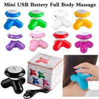 massager elétrico vibratório usb venda por atacado-Massageador de cabeça Mini Onda Manipulada Elétrica Vibratória Massageador USB Bateria Máquina de Cuidados de Saúde de Uso de Corpo Inteiro via DHL