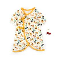 Wholesale Wholesale Animal Print Products - New Born Pure Cotton Cartoon Printed Jumpsuits Long Sleeve Baby Clothes Infant Product Baby Outfit Bodysuit