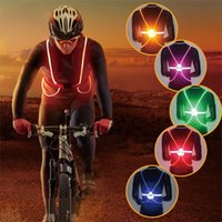Wholesale Illuminated Gear - Illuminated Reflective Vest Belt Fiber Optics LED Lights Adjustable Safety Gear Outdoor Sports Running Cyling Vest for Childre Men Women