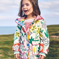 Wholesale yellow hoodie 3t online – oversize Hooded Windbreaker Kids Coat Spring Autumn Winter Jacket Hoodies Cartoon Graffiti Cartoon Printed Long Sleeve Kids Outerwear
