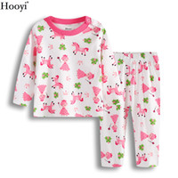Wholesale Girls Frogs Clothing - Princess Frog Baby Girl Sleepwear Suits Infant Pajamas Pink 100% Cotton Newborn Sleep Sets Children Clothes At Home 3-24Month Pyjamas