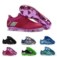 Wholesale Cheap Soft Ground Soccer Cleats - 2017 Man X 16+ PureChaos FG AG Cheap Pure Chaos Control Football Shoes Ground Best Boots Messi PureAgility Soccer Cleats Size 39-45