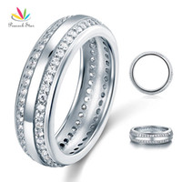 Wholesale peacock rings - Peacock Star Created Diamond Women Solid Sterling 925 Silver Wedding Band Ring Jewelry CFR8040