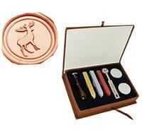Wholesale Deer Stamp - Vintage Christmas Deer Wedding Invitation Gift Wax Seal Stamp Sticks Spoon Gift Box Set Kit